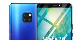 Full Screen Unlocked Smartphone | 6.1 inch Android 8.1 Ultrathin 4 HD Camera Cell Phones | GSM 4G LTE WiFi Mobile Phone 1G RAM, 16GB ROM, 8-Core Processor Cellphone Telephones 2 SIM (Blue)