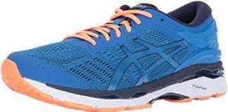 ASICS Mens Gel-Kayano 24 Running Shoe, Directoire Blue/Peacoat/Hot Orange, 7 Medium US