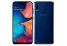 "Samsung Galaxy A20 32GB A205G/DS 6.4"" HD+ 4,000mAh Battery LTE Factory Unlocked GSM Smartphone (International Version) (Deep Blue)"