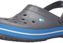 Crocs Unisex Crocband Clog, Charcoal/Ocean, 8 US Men / 10 US Women