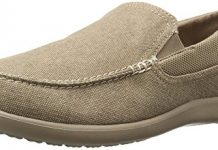 Crocs Men's Santa Cruz 2 Luxe M Slip-On Loafer, Khaki, 14 D(M) US