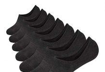 No Show Socks Mens 7 Pack Cotton Thin Non Slip Low Cut Men Invisible Sock 6-9/10-12 (Sock Size:10-12, 7 dark grey)