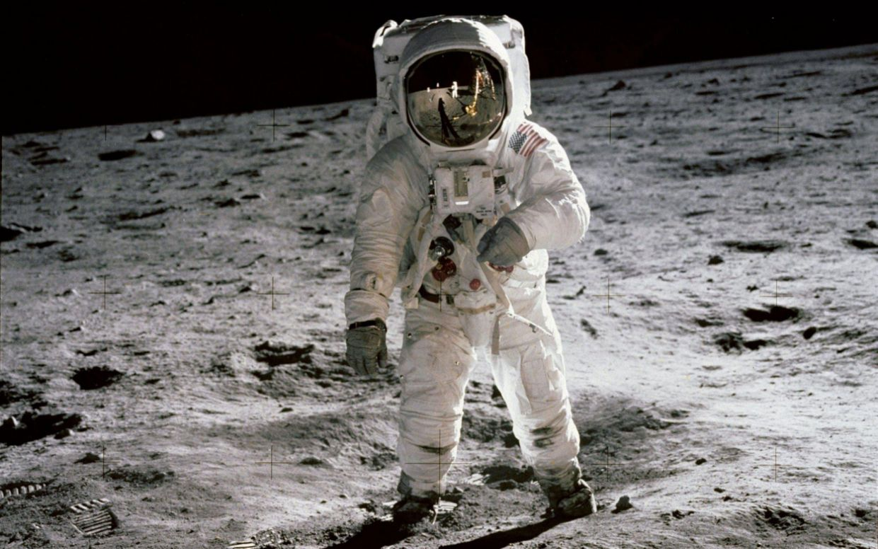 Buzz Aldrin walks on the Moon on July 20 1969 - REX
