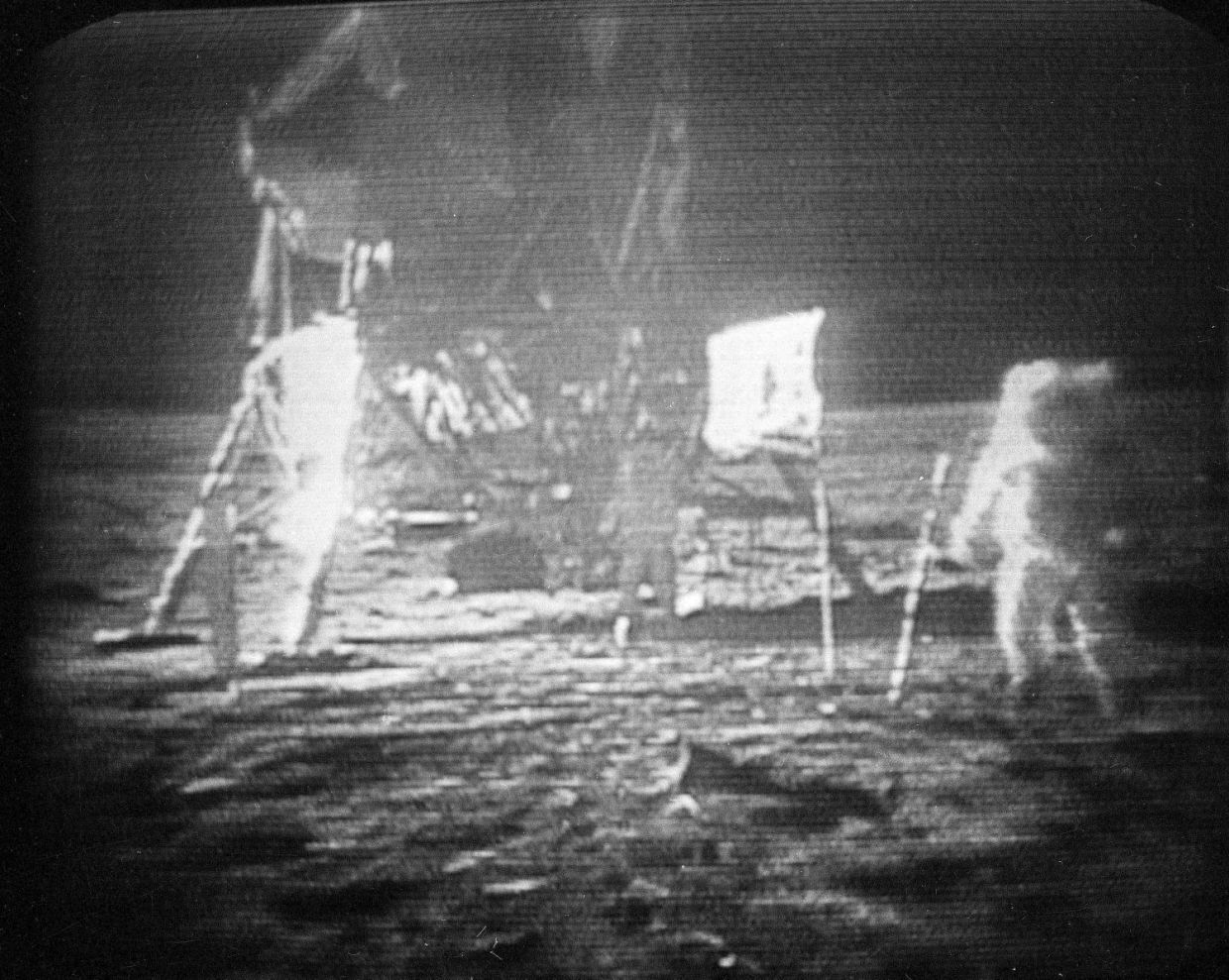 Apollo 11 astronaut Neil Armstrong, trudges across the surface of the moon leaving behind footprints, July 20, 1969. Space lawyer Michelle Hanlon argues that the footprints qualify under conservation law.