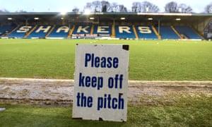 Bury's Gigg Lane stadium.
