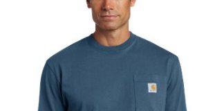 Carhartt Men's Big K87 Workwear Pocket Short Sleeve T-Shirt (Regular and Big & Tall Sizes), Stream Blue, 3X-Large/Tall