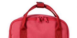 "Bestie 12"" Cute Mini Small Backpack Purse Travel Bag, Rosered"