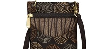 Danny K Women's Tapestry Crossbody Cell Phone or Passport Purse, Handmade in USA