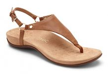 Vionic Women's Rest Kirra Backstrap Sandal - Ladies Sandals with Concealed Orthotic Arch Support Brown 8M
