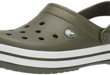 Crocs Crocband Clog, Army Green/White, 8 US Men/ 10 US Women M US