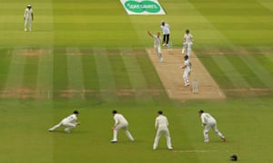 Matthew Wade is caught by Rory Burns.