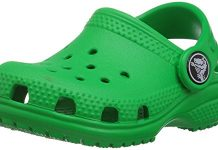 Crocs Kids' Classic Clog, Grass Green, 8 M US Toddler