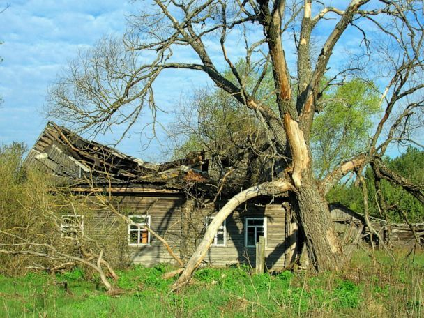 PHOTO: An abandoned house is seen in the Chernobyl exclusion zone. (Valeriy Yurko)
