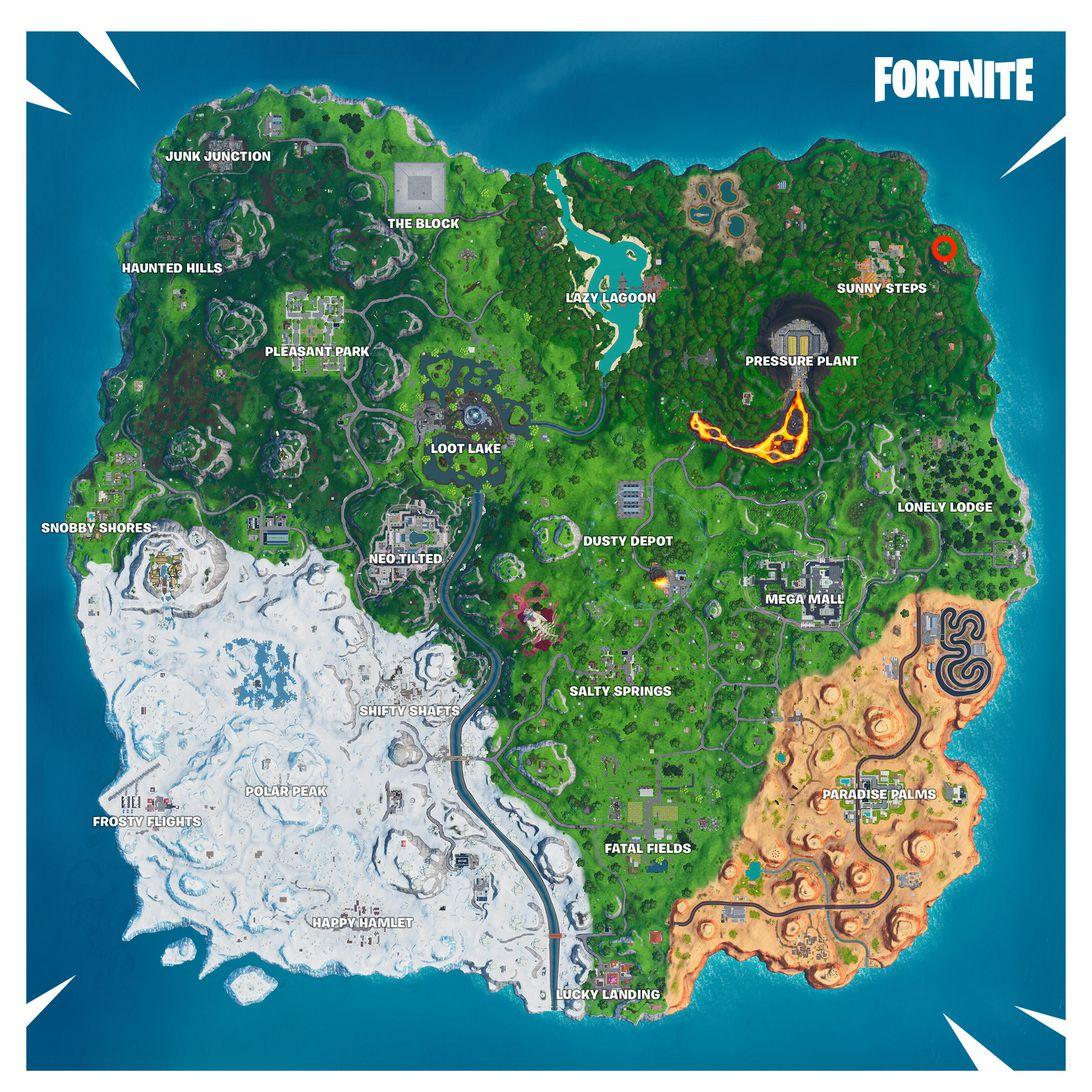 Fortnite week 4 map