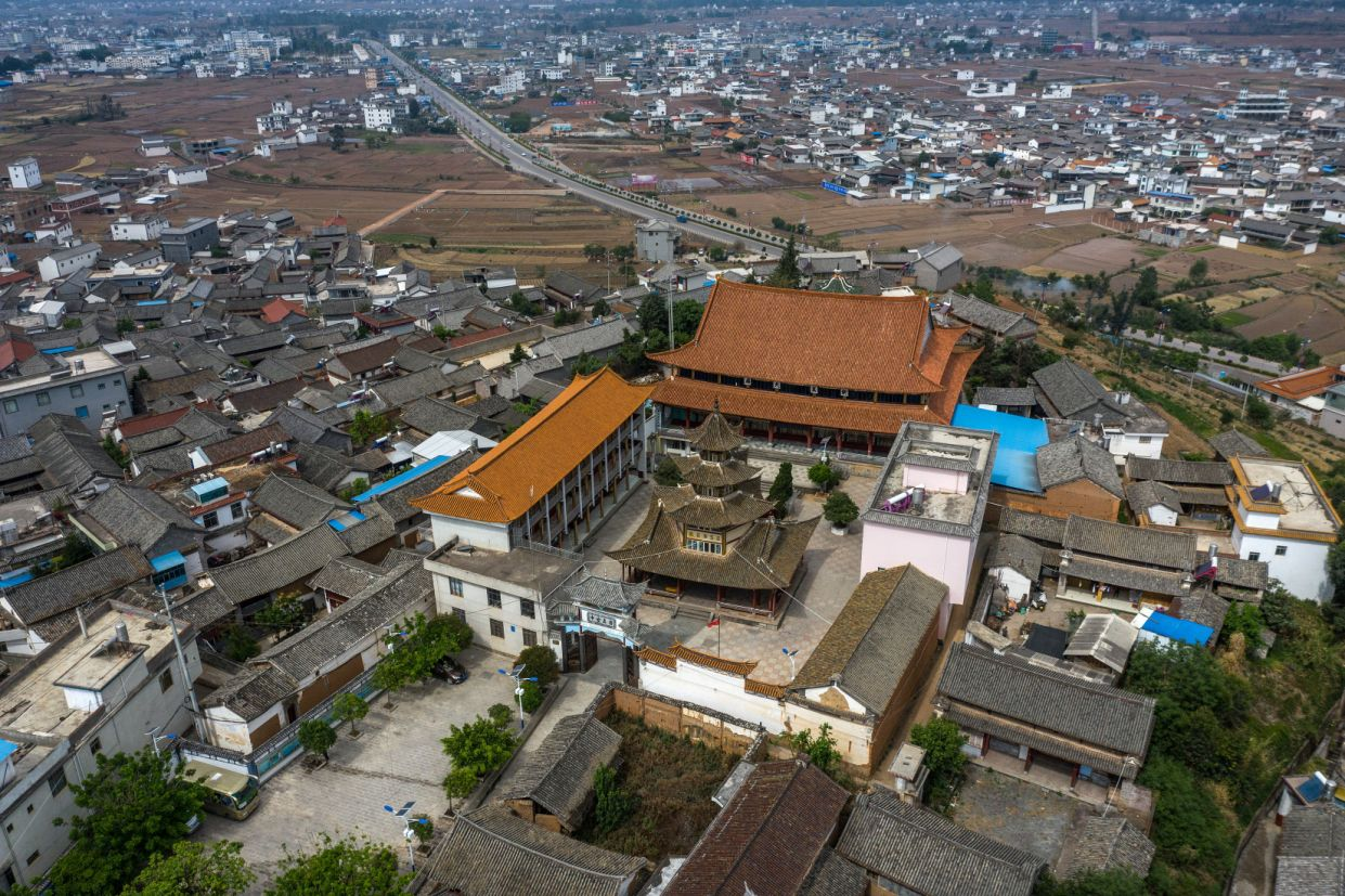 A Chinese-style mosque in Mamichang, a village in the southern province of Yunnan, China, May 1, 2019. (Lam Yik Fei/The New York Times.)