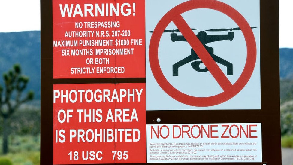 Warning sign at Area 51