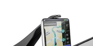 Car Universal Mobile Phone car Holder HUD Smartphone GPS Navigation Dashboard Phone Clip Slip Durable Suitable for Safe Driving of iPhone/Samsung (3.0-6.5 inch Mobile Phone) and Smartphone Navigation