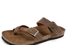 WHITE MOUNTAIN Women's Gracie Flat Sandal, Brown, 8 M US