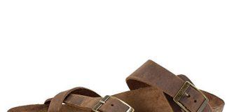 WHITE MOUNTAIN Women's Gracie Flat Sandal, Brown, 8 M US