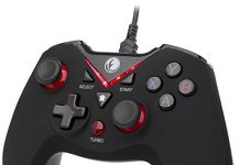IFYOO-V108-Red V-one Wired USB Gaming Controller Gamepad Joystick for PC (Windows XP/7/8/10) & Steam & Android & PS3 - [Red]