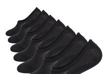 No Show Socks Mens 7 Pairs Cotton Thin Non Slip Low Cut Mens Invisible Casual Socks (7black, Size 10-12)