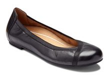Vionic Women's Spark Caroll Ballet Flat - Ladies Dress Casual Shoes with Concealed Orthotic Arch Support Black 8 M US