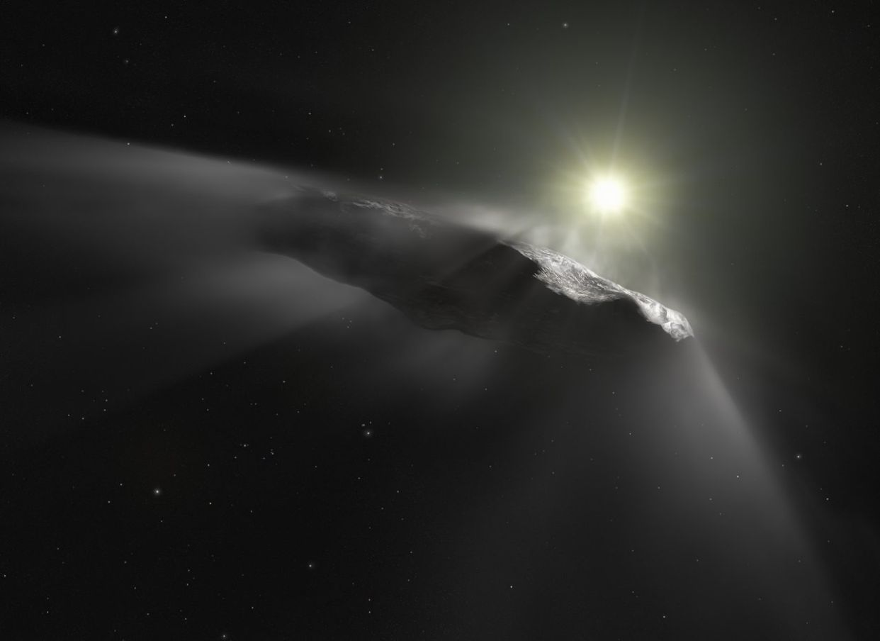 oumuamua interstellar comet asteroid object esa hubble nasa eso m kornmesser