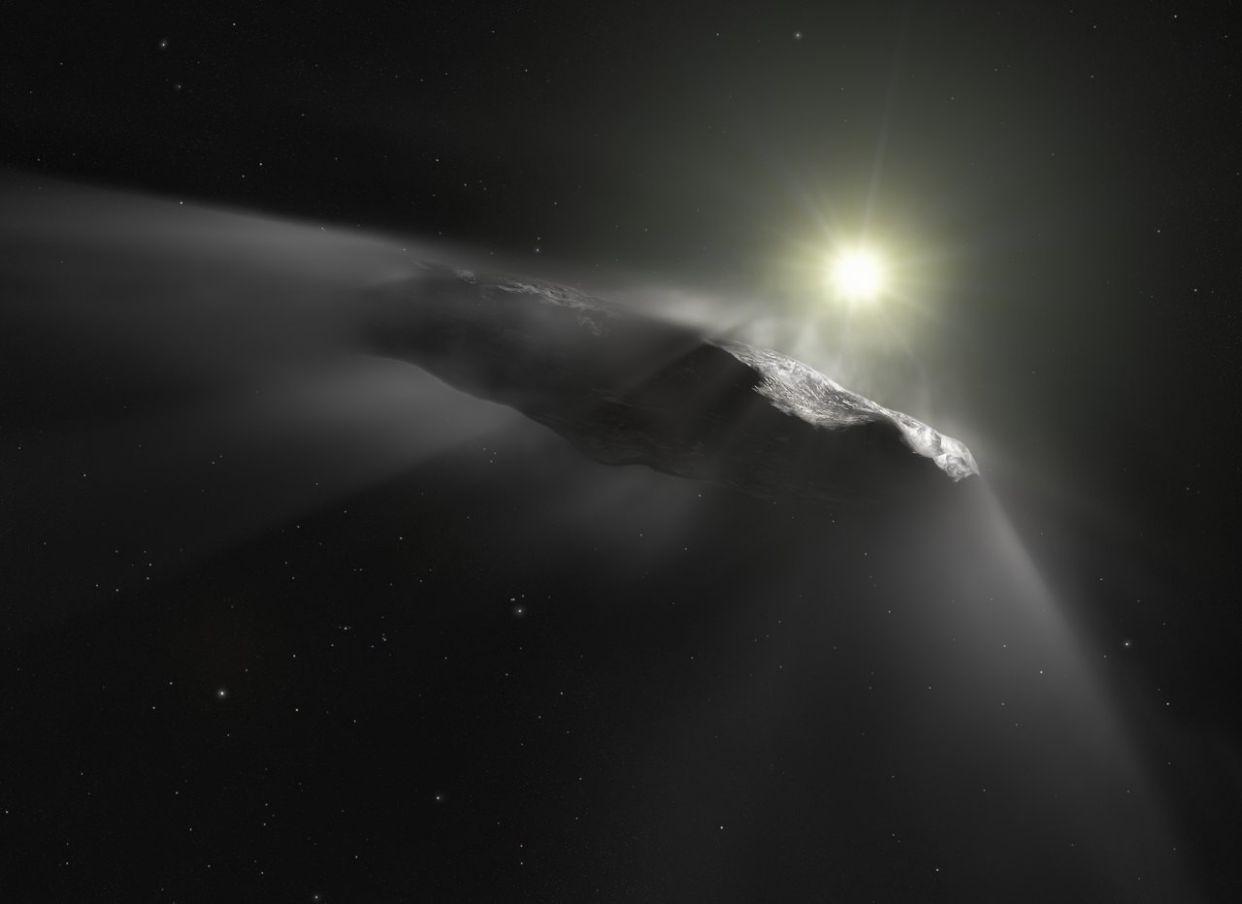 oumuamua interstellar comet asteroid object esa hubble nasa eso m kornmesser
