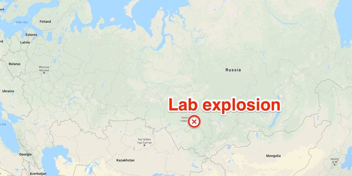 russia virus lab explosion map