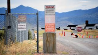 Warning signs at Area 51