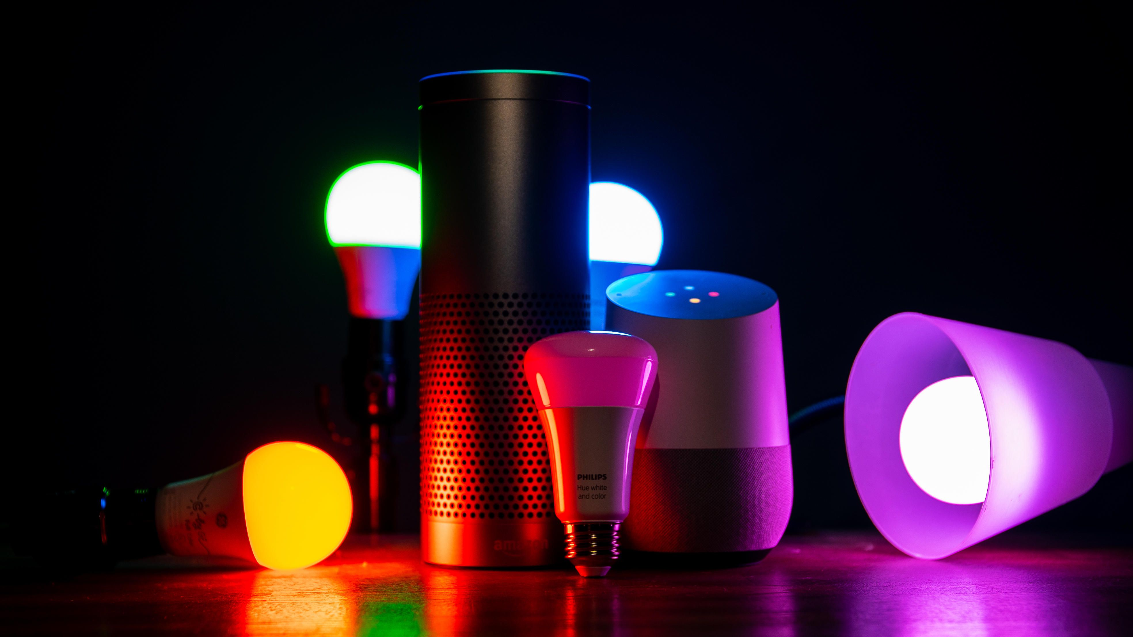 color-changing-smart-led-bulb-promo-philips-hue-lifx-c-by-ge-alexa-google-assistant-home-echo
