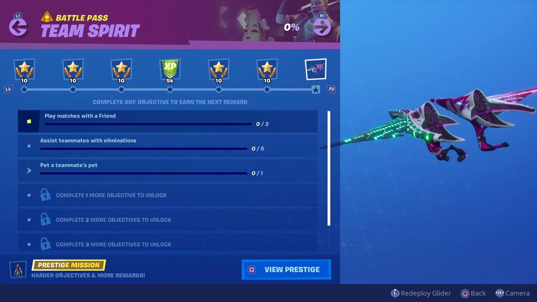 Fortnite Team Spirit Challenges