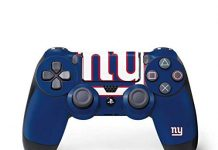 Skinit Decal Gaming Skin for PS4 Controller - Officially Licensed NFL New York Giants Large Logo Design