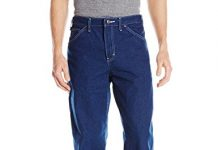 Dickies Men's Relaxed Fit Carpenter Jean, Indigo Garment Washed, 42x30