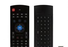 MX3 Air Mouse Remote with Keyboard AMGUR 2.4G Mini Wireless Keyboard Air Mouse Combos IR Learning Remote Control for Android TV Box Raspberry Pi, PS3,PS4,XBOX 360, Google Smart TV Remote Mouse