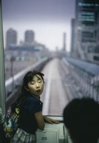 Girl on the metro. Tokyo