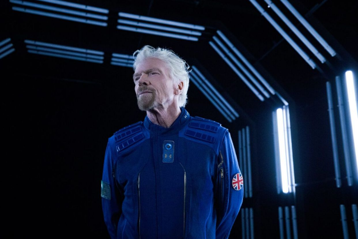 Branson in spacesuit
