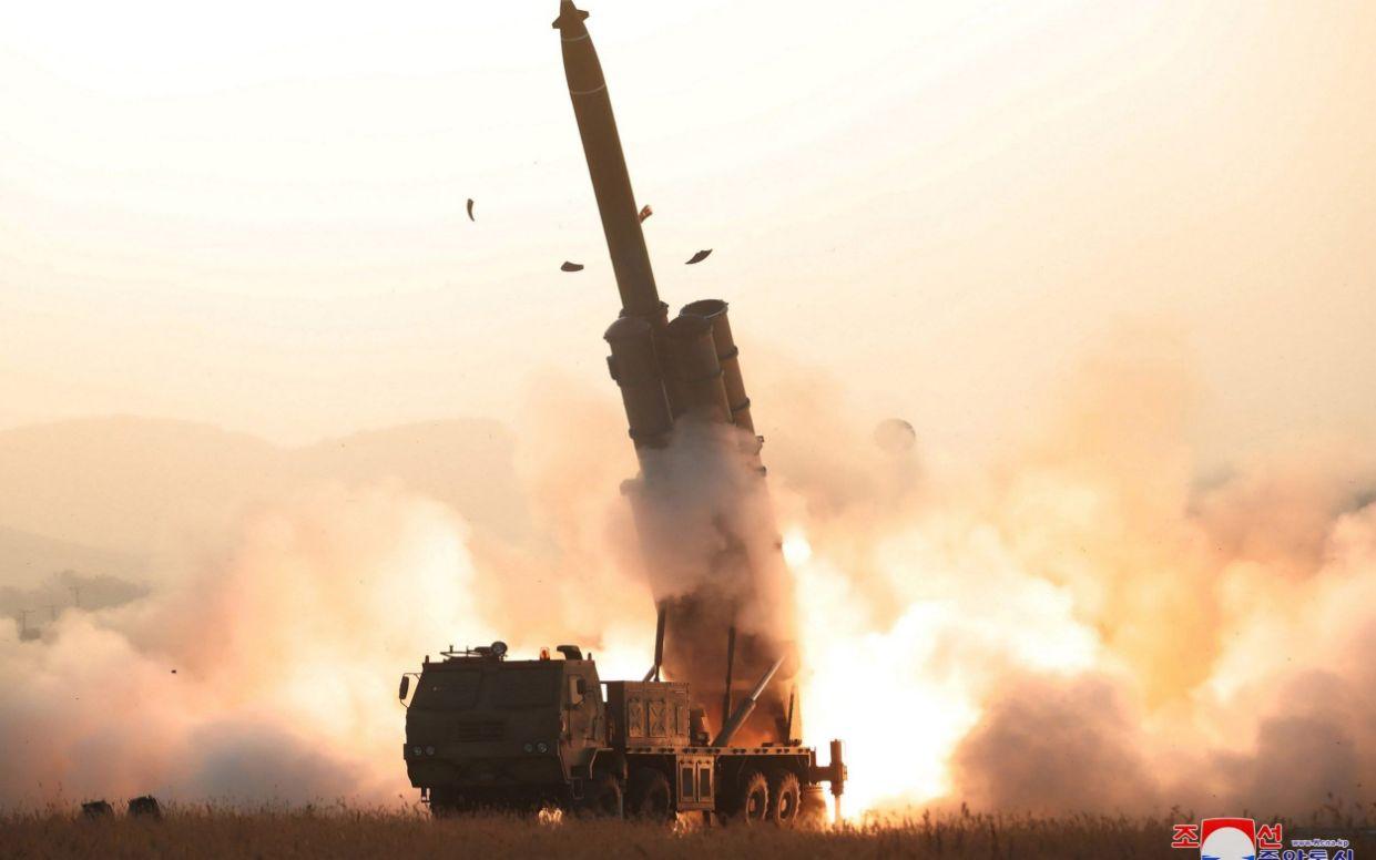 North Korea staged its last missile test on October 31 - via REUTERS