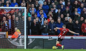 John Lundstram scores his, and Sheffield United's, second goal of the game.