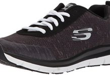 Skechers Women's Comfort Flex Sr Hc Pro Health Care Professional Shoe,black/white,8 Wide US