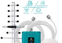 Cell Phone Signal Booster for Home All Carriers 3G 4G LTE - Boost Mobile Phones Voice & Data Signal by Multi-Band Cellular Repeater Amplifier Kit with Ceiling/Yagi Antenna Up to 4,500Sq Ft