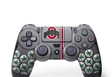 Skinit Decal Gaming Skin for PS4 Controller - Officially Licensed Ohio State University Ohio State University Buckeyes Design