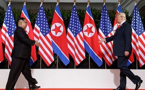 <span>Kim Jong-un and President Trump first met in June 2018</span> <span>Credit: Evan Vucci/AP </span>