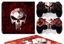 GoldenDeal PS4 Pro Skin and DualShock 4 Skin - Super Hero Punish - PlayStation 4 Pro Vinyl Sticker for Console and Controller Skin