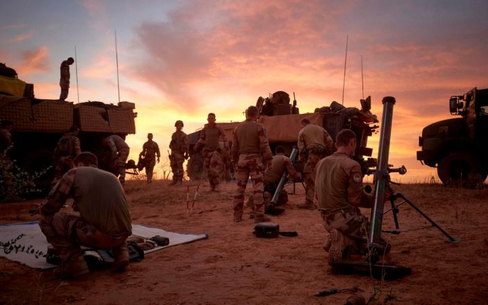 The French Army has provided support to Burkina Faso's military, which had struggled to handle the jihadist insurgency - AFP