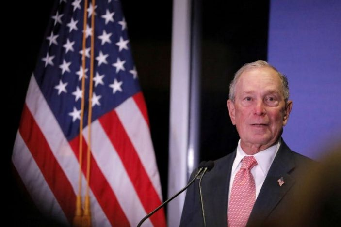 FILE PHOTO: Democratic U.S. presidential candidate Michael Bloomberg delivers remarks where he was honored by the Iron Hills Civic Association at the Richmond County Country Club in Staten Island, New York, U.S., December 4, 2019. REUTERS/Andrew Kelly/File Photo