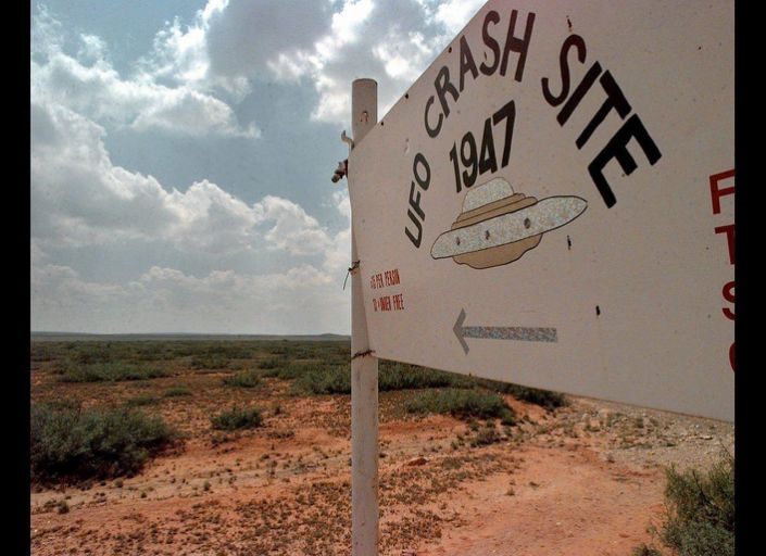 America's most infamous UFO case centers in Roswell, N.M. Some people claimed an alien spacecraft crashed there in 1947; the military said it was a weather balloon.