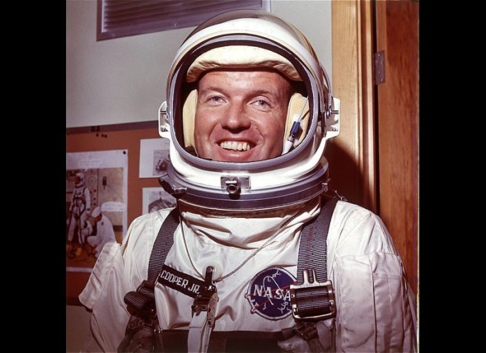 "Astronaut Gordon Cooper, who piloted Mercury and Gemini space missions in the 1960s, once said he saw a ""typical saucer shape, double-cylindrical shape, metallic"" UFO. He was also outspoken on the idea that some UFOs were interplanetary vehicles visiting Earth."
