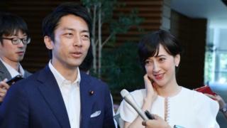 Shinjiro Koizumi and Christel Takigawa (file photo)