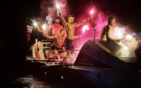 <span>The team rowed from the Canary Islands to Antigua in 32 days</span> <span>Credit: en Duffy Photography </span>